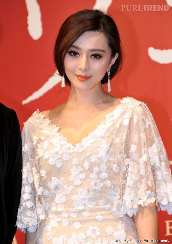 "Fan BingBing lors de la conférence de presse du film ""My Way"" à Tokyo."