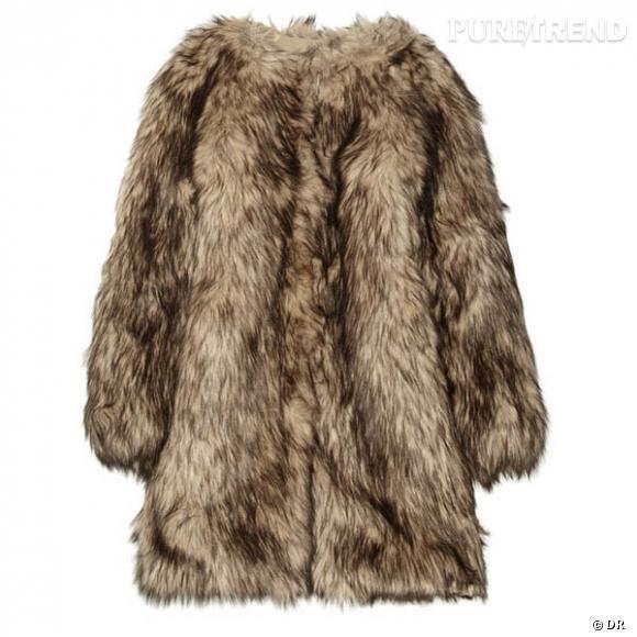 manteau en fausse fourrure michael michael kors prix 295 en vente sur. Black Bedroom Furniture Sets. Home Design Ideas
