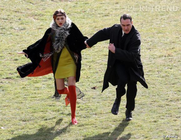 Marion Cotillard au côté de Joaquin Phoenix : un duo tendance.