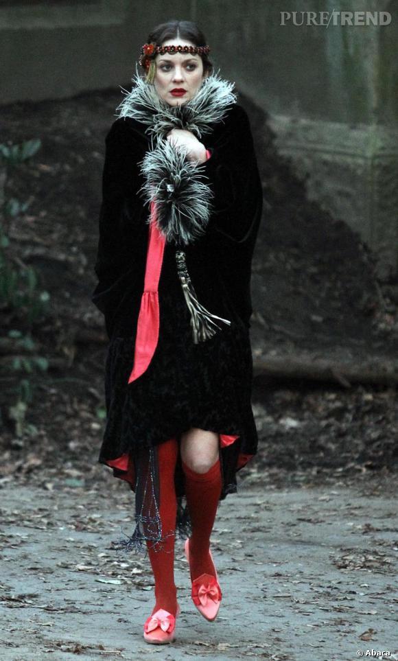 Marion Cotillard sur le tournage du prochain film de James Gray à New York.