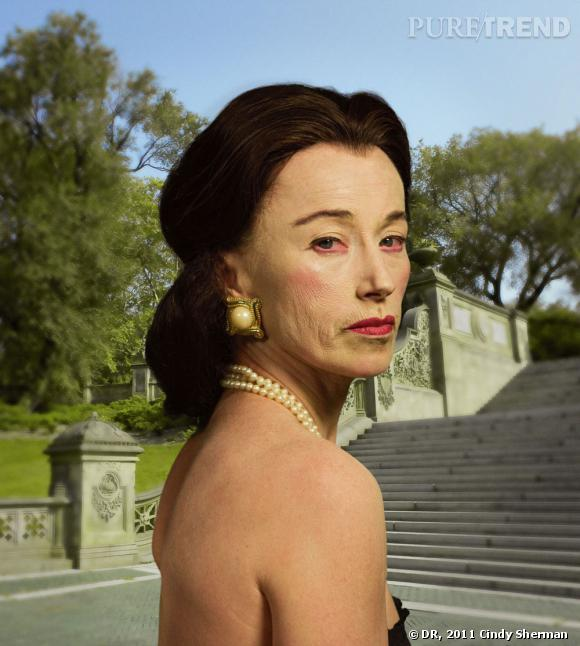 Cindy Sherman. Untitled #465. 2008. Chromogenic color print, 63 3/4 x 57 1/4″ (161.9 x 145.4 cm). Courtesy the artist and Metro Pictures, New York.