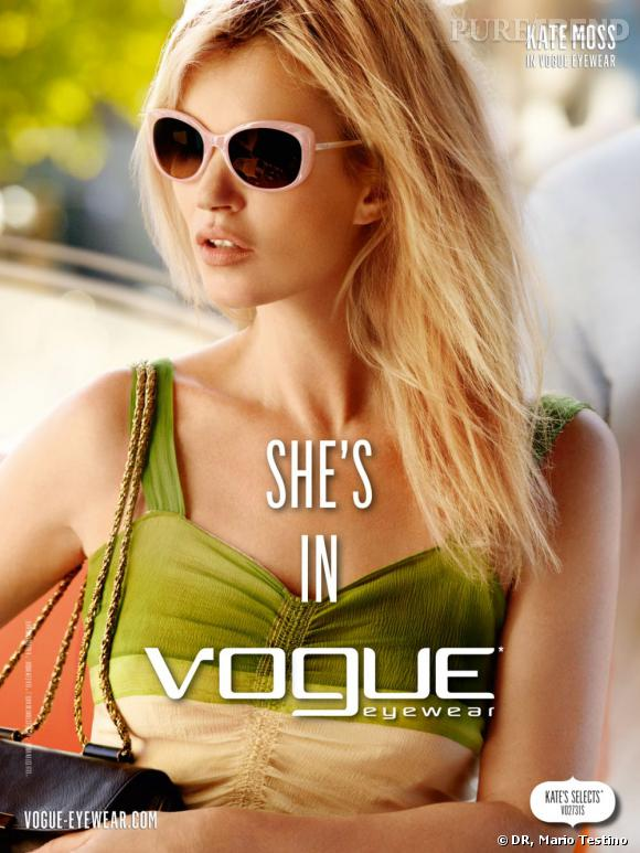 Campagne Vogue Eyewear, Printemps-Eté 2012.
