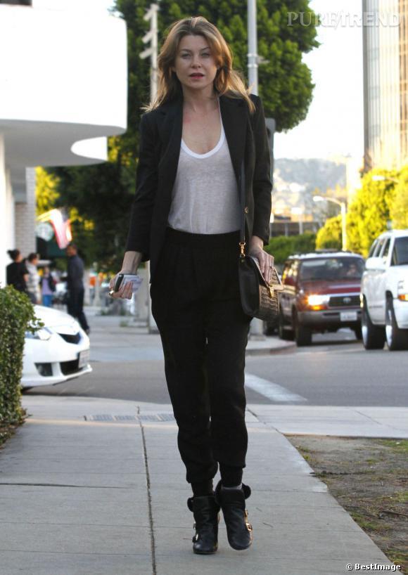 Look féminin de working girl, Ellen Pompeo nous séduit à nouveau.