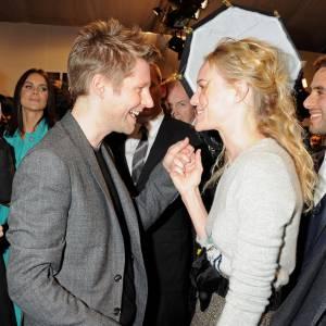 Kate Bosworth copine avec Christopher Bailey après la présentation Burberry Prorsum.