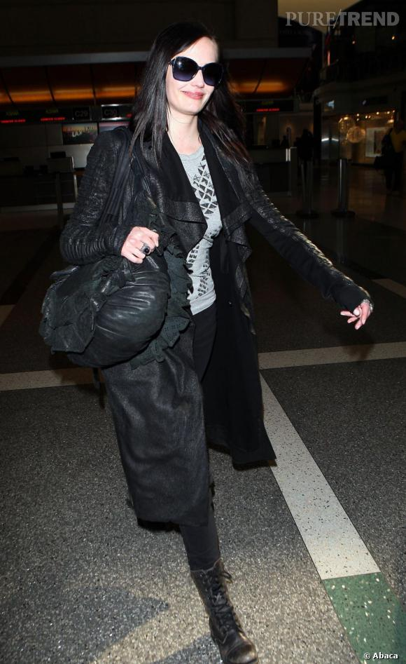 Eva Green à l'aéroport de Los Angeles.