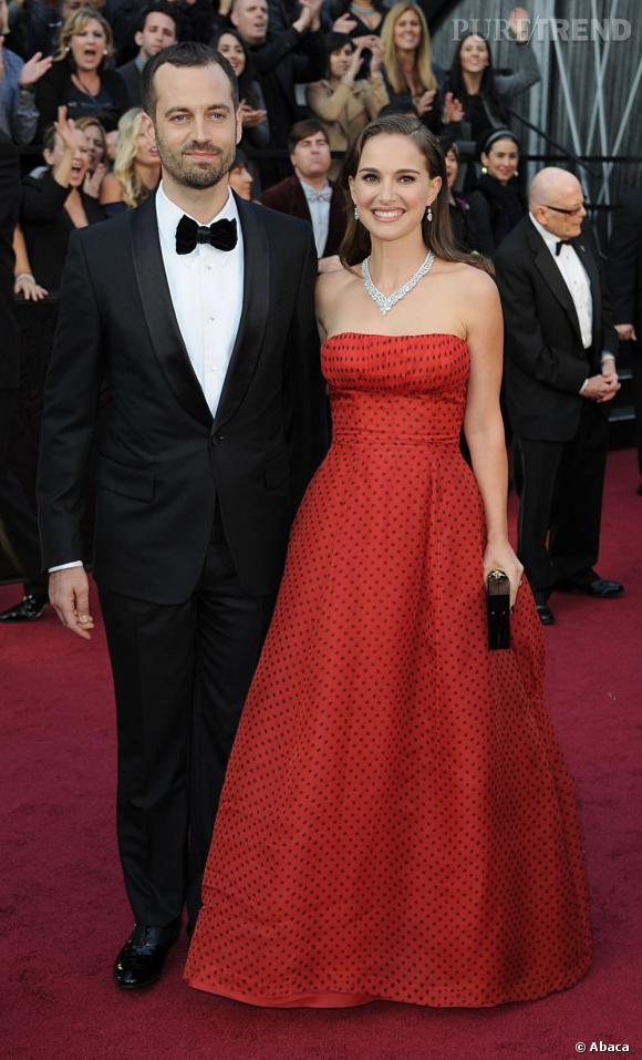 Natalie Portman au côté de son boyfriend Benjamin Millepied.