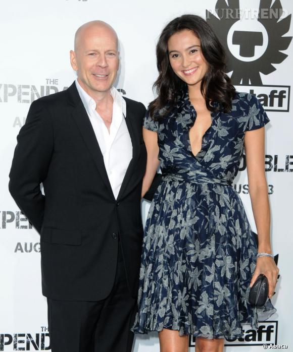 Bruce Willis et sa femme Emma Heming.