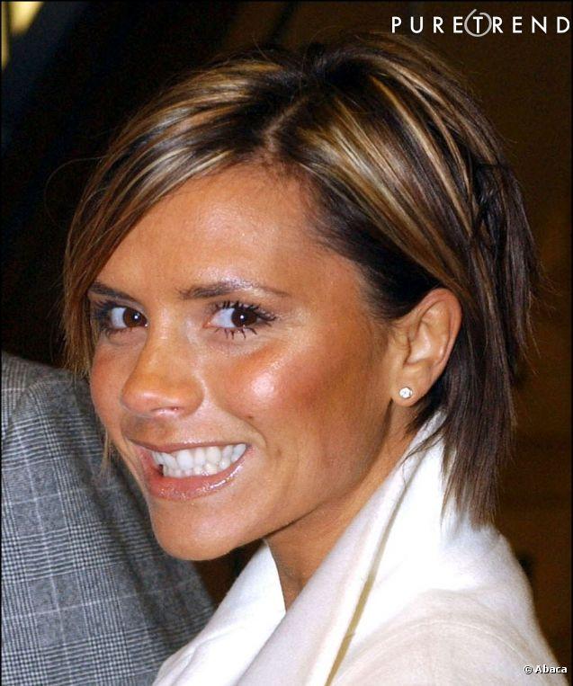 Coiffure Victoria Beckham - cheveux carré effilé - coupe