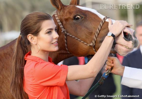 Charlotte Casiraghi lors du Cartier International Dubai Polo Challenge.