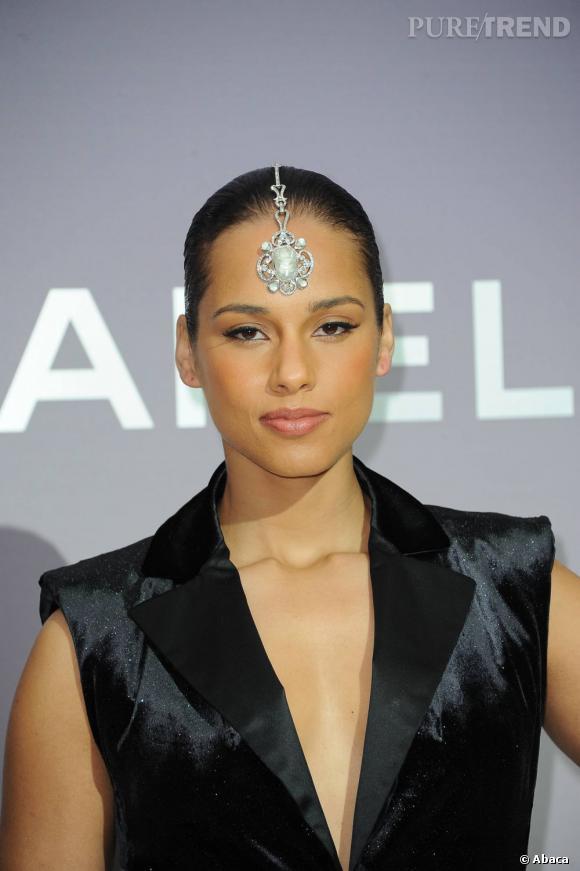 Alicia Keys au défilé Chanel.