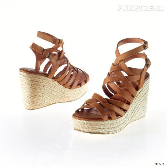 Les sandales compensées MELLOW YELLOW pour La Redoute, 89 euros. A shopper ici