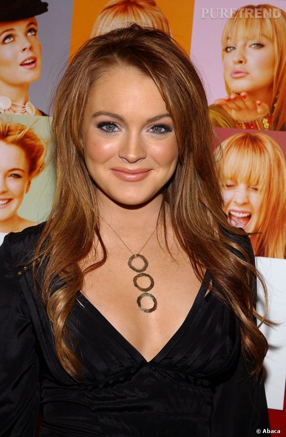 C'est en rousse que le teint de Lindsay Lohan est le plus mis en valeur.