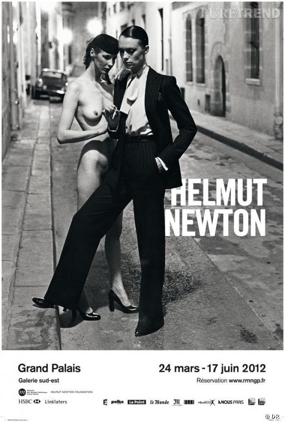 """""""Helmut Newton"""" Affiche Réunion des musées nationaux – Grand Palais"""