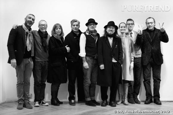Le jury du Festival Mode 2012. De gauche à droite :   Jean-Pierre Blanc, director of the festival, Terry Jones, Jules Wright, Marc Ascoli, Alan Bilzerian, Yohji Yamamoto, Pascale Mussard, Olivier Saillard, Paolo Roversi.
