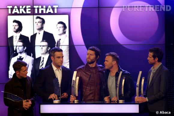 En 2010 Robbie Williams réintègre les Take That et le succès est au rendez-vous. Après avoir gagné il y a quelques semaines l'Echo Awards du meilleur groupe international, les 5 membres seraient en pourparler pour animer l'ouverture des JO de Londres.
