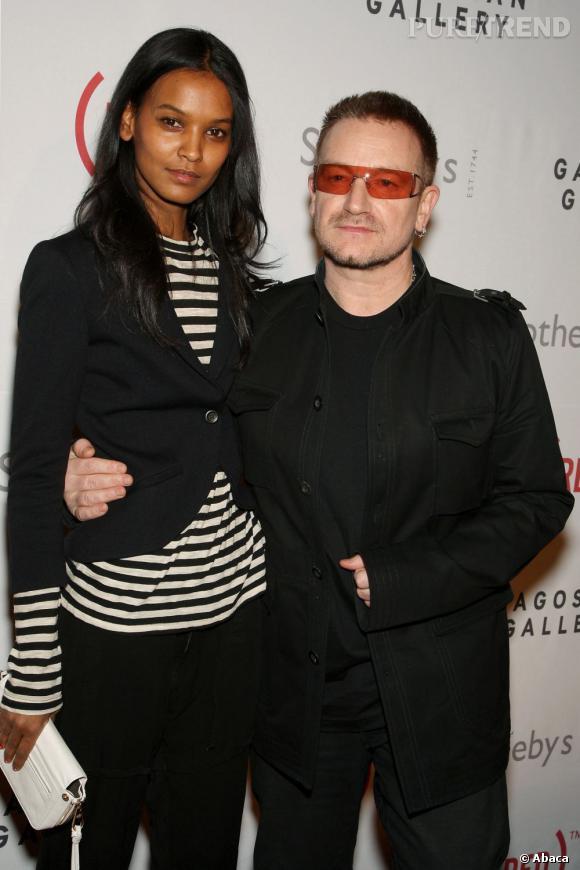 Liya Kebede aux côtés de Bono, une autre personnalité engagée.