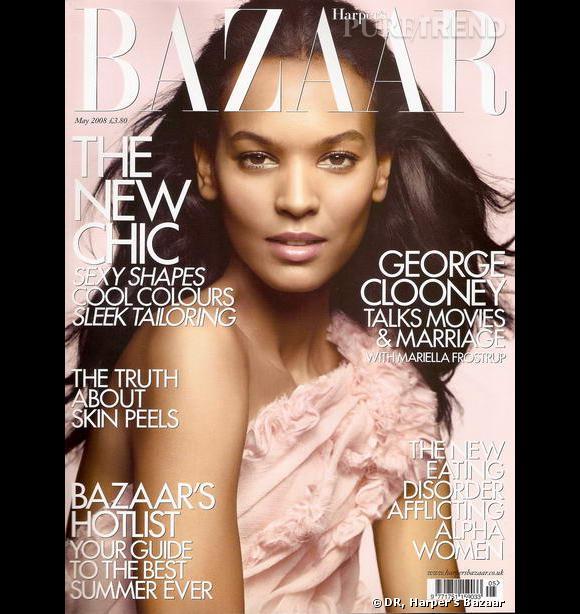 Liya Kebede, fraiche et délicate pour Harper's Bazaar.