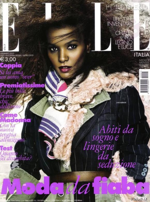 Liya Kebede en couverture de ELLE Italie.