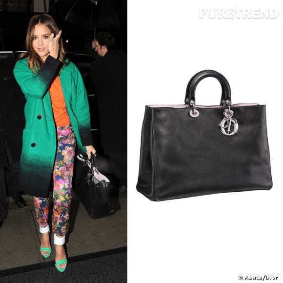 "Wanted : le nouveau it-bag Dior ""Diorissimo"" vu au bras de Jessica Alba."