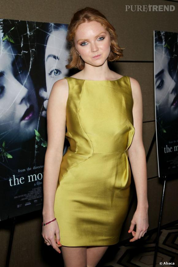 """Lily Cole lors de la projection de son nouveau film """"The Moth Diaries"""" à New York."""