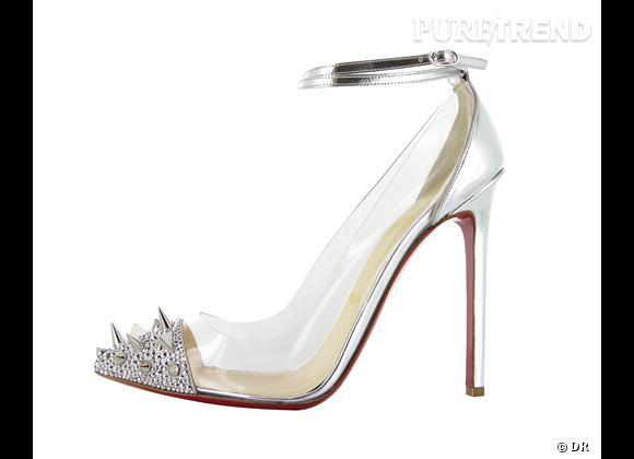"""Tendance vue chez le stars, le shopping : les chaussures de Cendrillon Escarpins """"Just Pick"""" Christian Louboutin, 965 €"""