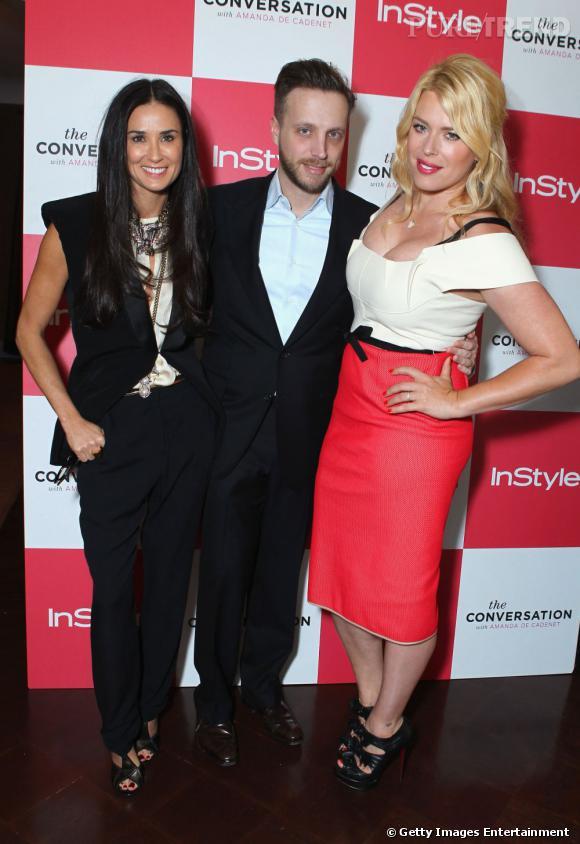 De gauche à droite : Demi Moore, Ariel Foxman et Amanda de Cadenet.