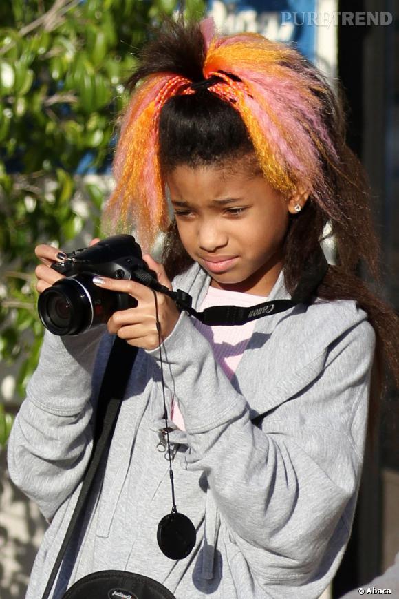 On aurait pu se douter que Willow Smith essaierait différentes couleurs à la vue de ce chouchou à mèches de cheveux colorés.