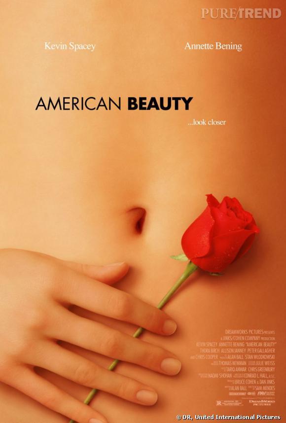 """Affiche du film légendaire """"American Beauty""""."""