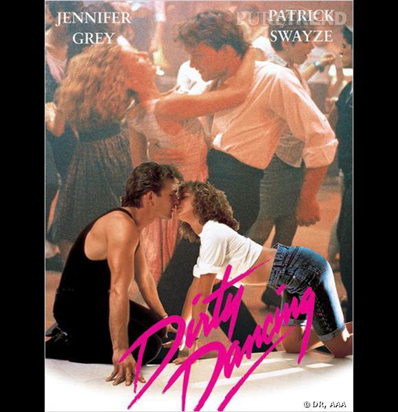 """Affiche du film """"Dirty Dancing"""", pas de danses et baisers langoureux sont au programme."""