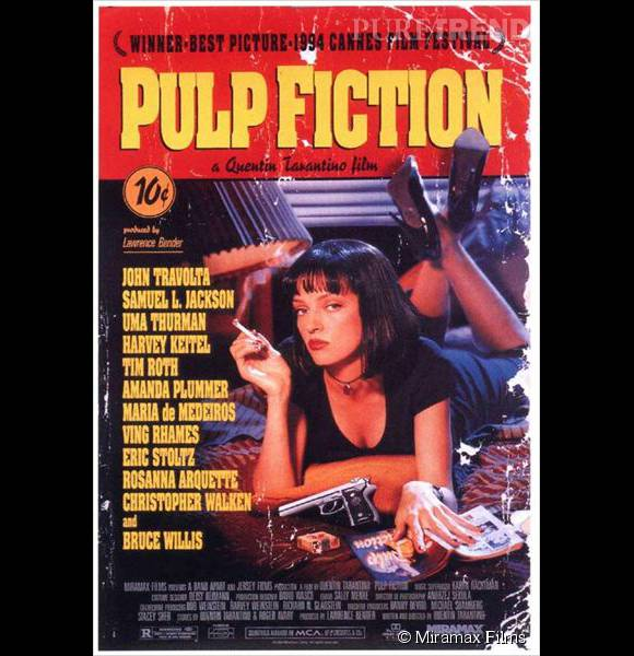 "Affiche mythique du film ""Pulp Fiction""."