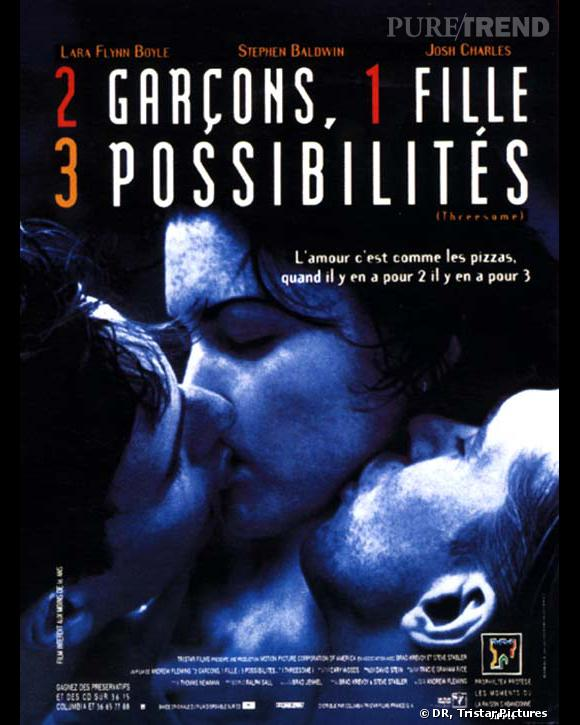 """Affiche du film """"2 garçons, 1 fille, 3 possibilités""""."""