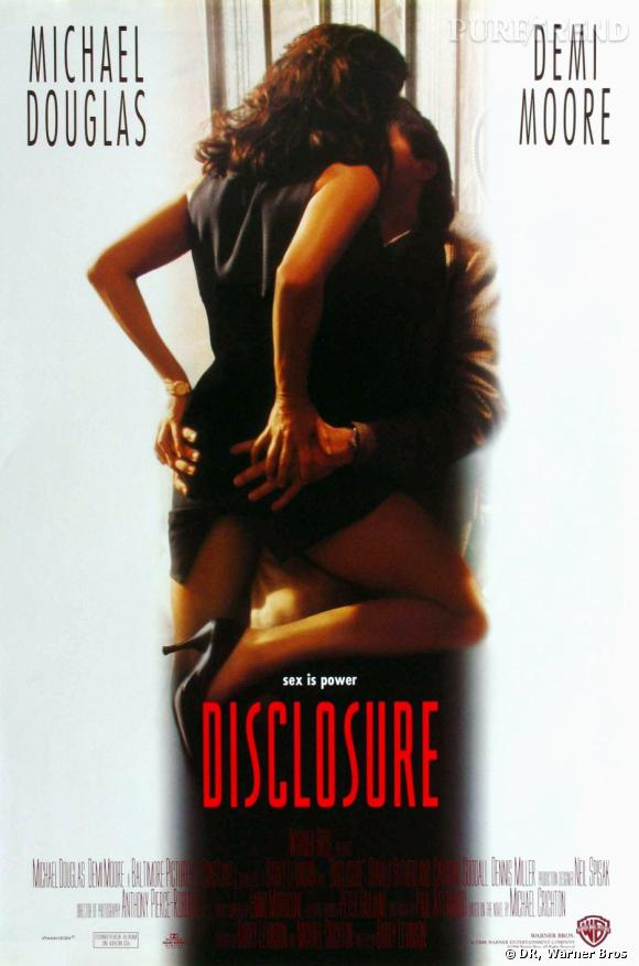"""Affiche du film """"Disclosure"""", Demi Moore répond encore présente."""