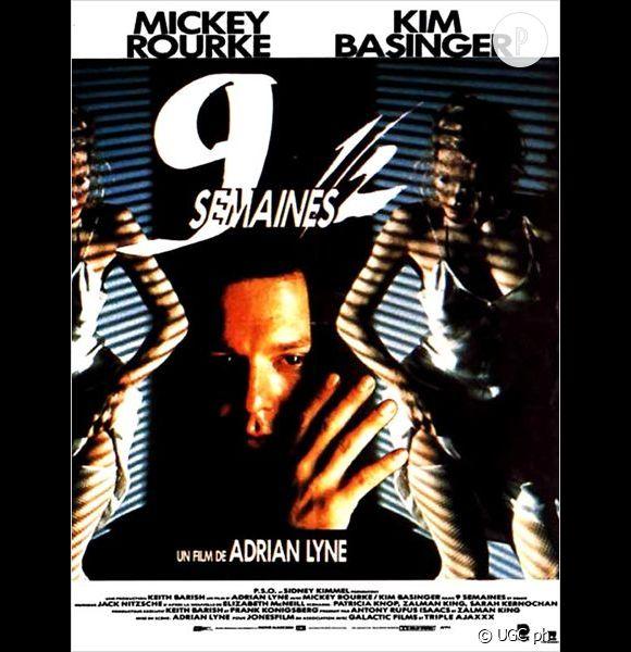 """Jolie performance pour Kim Basinger à l'affiche du film """"9 semaines 1/2""""."""