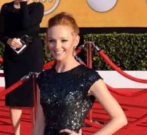 Tendance sirène également lors des Screen Actors Guild Awards 2012 en robe à sequins Reem Acra.