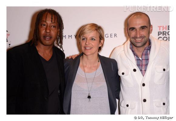 Jackson Richardson, Céline Geraud et Jerome Alonzo