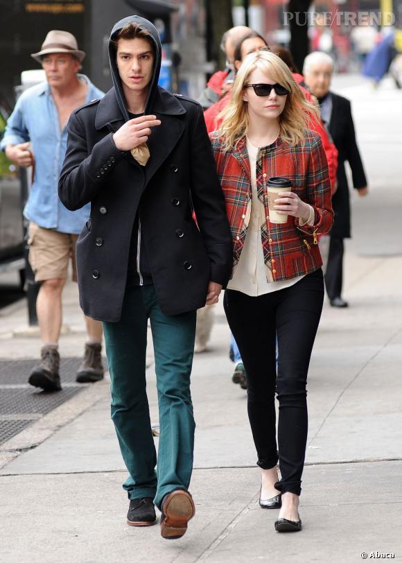 Emma Stone et son boyfriend Andrew Garfield.