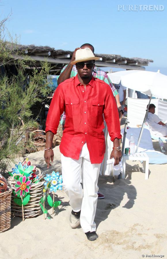 P.Diddy est un grand habitué du farniente sur les plages de Pampelonne à Saint-Tropez.
