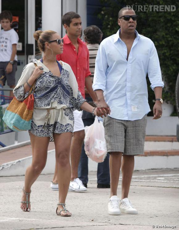 Beyoncé Knowles et son mari le rappeur Jay-Z prennent des vacances bien méritées à Saint-Barthélemy.