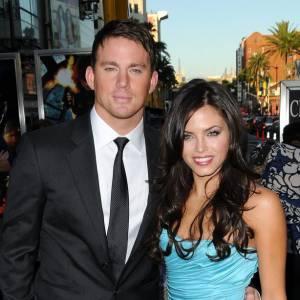 """Channing Tatum et sa femme Jenna Dewan à la Première du film """"G.I Joe : le réveil du cobra"""" à Los Angeles."""