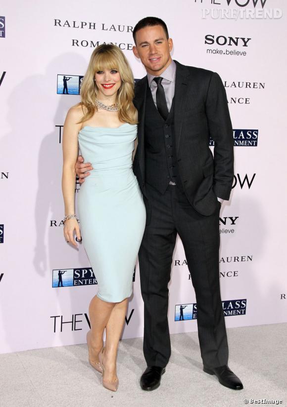 """Channing Tatum et Rachel McAdams à l'avant-Première du film """"The Vow"""" le 6 février à Hollywood."""