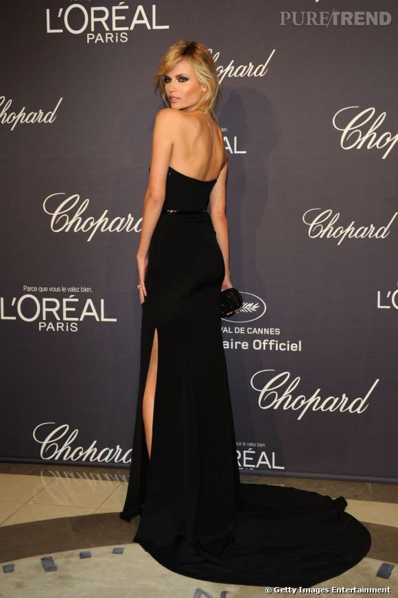 Natasha Poly lors de la soirée Chopard et L'Oréal Paris à Cannes.