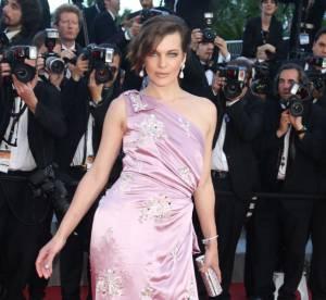 Cannes 2012 : Milla Jovovich craque pour le vieux rose