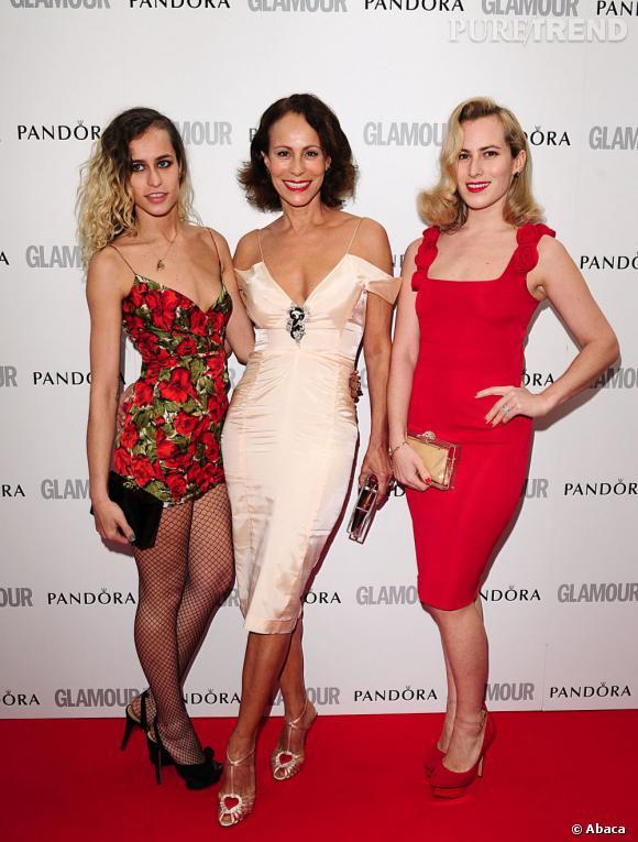 Alice, Andrea et Charlotte Dellal.