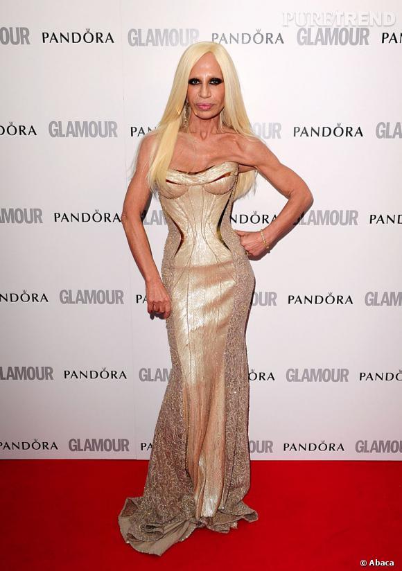 Donatella Versace, fidèle à elle-même.