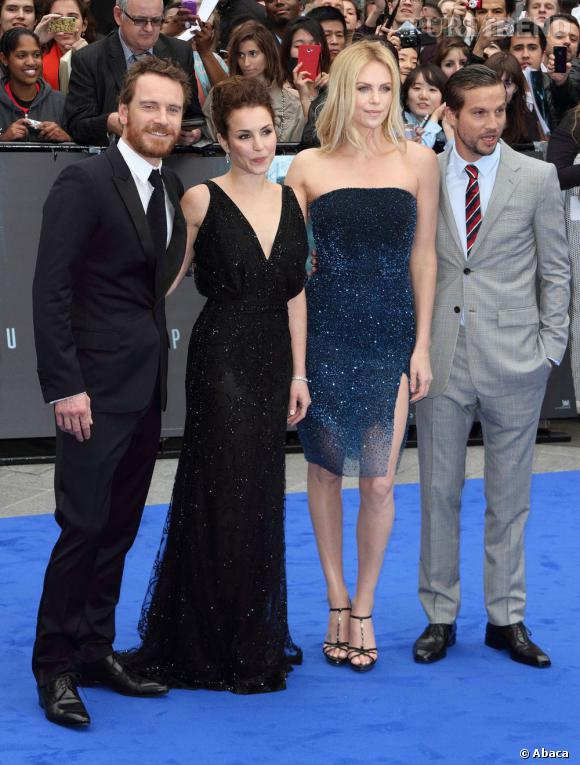 """Michael Fassbender, Noomi Rapace, Charlize Theron et Logan Marshall-Green à la première de """"Prometheus"""" à Londres"""