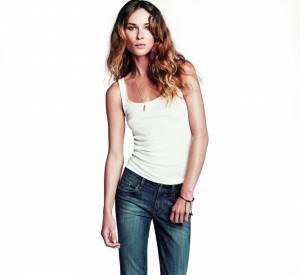 """Erin Wasson pour la ligne de jeans """"Love your fit"""" d'Esprit."""