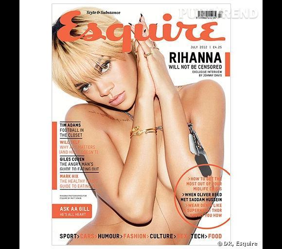 Rihanna nue pour Esquire