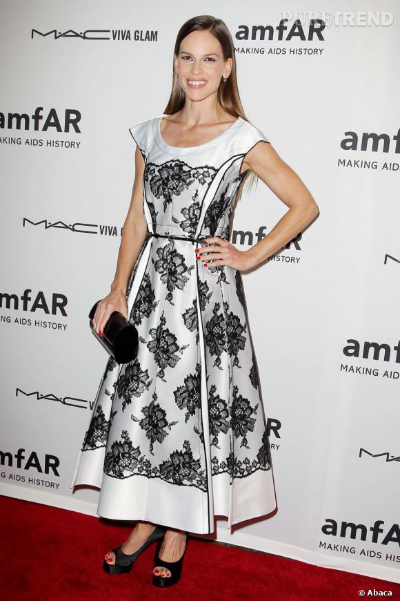 Hilary Swank lors du gala Inspiration de l'amfAR à New York.