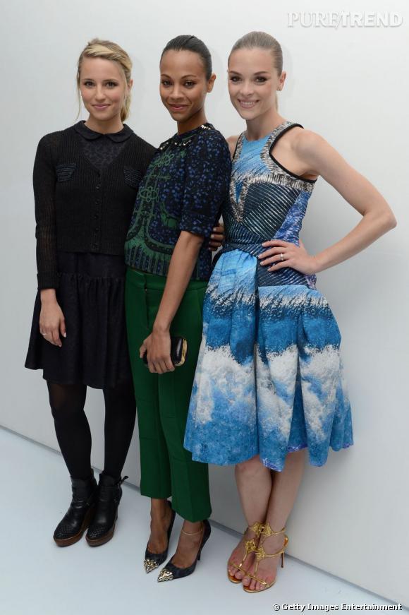 Dianna Agron, Zoe Saldana et Jaime King.