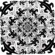 """""""Smaller and Smaller"""", 1956, M.C. Escher.     www.mcescher.com"""